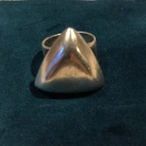 Vintage Silver Triangle Ring 925